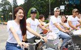 Bảo Anh đạp xe đi từ thiện cùng thí sinh Ngôi sao mới