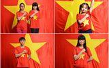 Tấm bản đồ Việt Nam xếp từ 5600 bức ảnh chụp với cờ Tổ Quốc