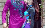 Hoa hậu chuyển giới Campuchia diện áo dài e ấp bên Ngọc Tình
