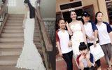 Độc đáo chiếc váy làm từ 3.000 bông hoa giấy giá 200 ngàn đồng