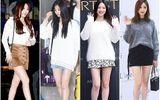 Áo len và váy ngắn - thời trang thu hoàn hảo của idol nữ xứ Hàn