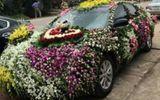 Độc đáo xe rước dâu được trang trí bằng hàng trăm loài hoa ở xứ Nghệ