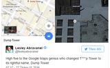 """Tòa tháp của ông Trump bị đổi thành """"Tháp Rác"""" trên Google Maps"""