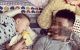 Ông bố gây ấn tượng với màn đọc ráp nhép dỗ con uống sữa
