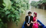 Ấn tượng với bộ ảnh cưới giữa cảnh mưa lũ ở Hội An của cặp đôi Sài Gòn