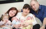 Kì lạ người phụ nữ sinh 4 đứa con trong vòng 11 tháng