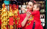 Nhật Kim Anh cùng con trai mặc áo dài dạo phố những ngày giáp tết