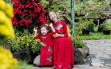 Elly Trần cùng con gái Cadie Mộc Trà diện áo dài đôi du Xuân