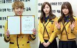 Trai xinh gái đẹp Kpop rạng rỡ trong lễ tốt nghiệp