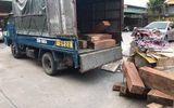 Nữ tài xế lái xe tải chở 900kg gỗ hương lậu qua địa bàn Hà Nội