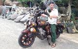 """Ngắm chiếc mô tô """"handmade"""" làm từ gốc cây với dáng độc có """"1-0-2"""""""
