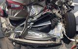 Hà Nội: Tai nạn trước Sân bay Nội Bài, 2 người bị thương
