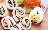 Bánh sandwich cuộn rau trứng – hộp cơm trưa công sở nhiều màu sắc
