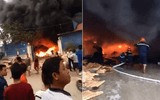 Video: Kho phế liệu ở Hưng Yên bốc cháy dữ dội