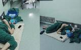 Xúc động với hình ảnh bác sĩ ngủ gục trên sàn sau 5 ca phẫu thuật liên tiếp