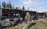 Đánh bom xe chở người sơ tán ở Syria, 100 người chết