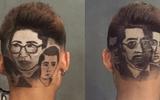 """Chàng trai 9X cắt tóc hình diễn viên phim """"Người phán xử"""" và  """"Sống chung với mẹ chồng"""" trên đầu khách"""