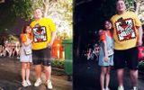 Bức ảnh kỷ niệm của cô gái và chàng Tây lệch nhau 100 kí siêu dễ thương