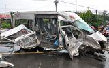 Hai xe khách tông trực diện, 1 người tử vong, 13 người trọng thương