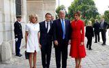 Ông Trump gây chú ý khi bất ngờ khen ngợi vợ Tổng thống Pháp