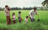 Ngây ngất bộ ảnh gia đình nông dân của Lý Hải – Minh Hà