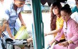 Thuý Nga, Kavie Trần về Việt Nam tất bật phát cơm, tặng gạo mùa Vu lan