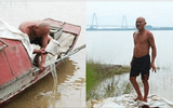 Người đàn ông 30 năm vớt xác chết trên sông Hồng và ký ức đau lòng về cuộc sống