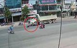 Clip: Người đàn ông bị xe ben tông văng gần 5m ngay giữa ngã 3