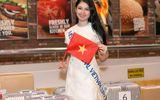 Thuỳ Dung mang 10 kiện hành ký nặng 140kg đi thi Hoa hậu Quốc tế 2017