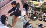 Nữ sinh Hà Nội đánh bạn cùng trường dã man vì nghi bị nhìn đểu