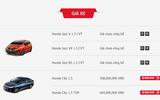 Bảng giá xe Honda mới nhất tháng 11 tại Việt Nam