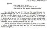Cảnh giác công văn giả mạo cho sinh viên nghỉ học cổ vũ U23 Việt Nam