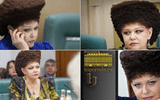Nghị sĩ Nga gây ấn tượng mạnh với kiểu tóc độc nhất vô nhị