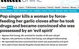 Báo nước ngoài đưa tin nghi án Châu Việt Cường 'ngáo đá', nhét tỏi vào miệng bạn gái gây tử vong
