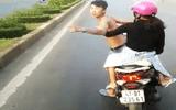 Xác định danh tính thanh niên đầu trần chạy xe lạng lách, chặn đầu xe khách