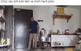 Bị vợ mắng vì lười, chồng trẻ ra tay dọn nhà 3 tiếng rồi quay lại video làm