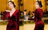 Diện trang phục kín đáo, Elly Trần vẫn khoe khéo số đo gợi cảm