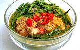 Món ngon bữa trưa: Canh cua rau rút