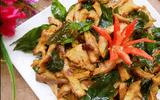 Món ngon cuối tuần: Dạ dày chiên lá mắc mật thơm phức chiêu đãi cả nhà