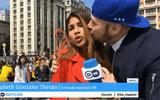 Nữ phóng viên bị sàm sỡ ngay trong bản tin trực tiếp World Cup 2018