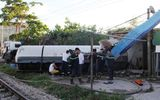 Nguyên nhân vụ tai nạn xe bồn bị tàu hỏa húc văng ở Nghệ An