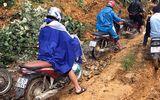 Mưa lớn gây ngập úng và sạt lở quốc lộ 4 ở Lào Cai