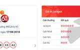 """Kết quả xổ số Vietlott hôm nay 19/8/2018: Jackpot lại chơi """"trốn tìm"""""""