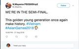 Lần đầu tiên lọt vào bán kết Asiad, cộng đồng mạng thế giới đồng loạt gửi lời chúc mừng đội tuyển Việt Nam