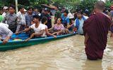 Hiện trường vỡ đập tại Myanmar khiến hơn 100 ngôi làng ngập trong nước lũ