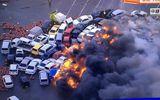 Video: Hơn 100 ô tô bốc cháy dữ dội vì cơn bão lịch sử đổ bộ Nhật Bản
