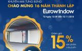 Tưng bừng khuyến mãi cửa cuốn Eurowindow nhân kỷ niệm 16 năm thành lập