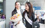 Tiểu Vy tiễn Phương Nga lên đường thi Miss Grand ngay khi vừa trở về từ Pháp