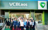 Vietcombank Lào vinh dự đón đồng chí Trần Quốc Vượng – Ủy viên Bộ Chính trị, Thường trực Ban Bí thư và Đoàn công tác tới thăm và làm việc