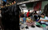 Ngành công nghiệp xuất khẩu tóc người bùng nổ ở Myanmar